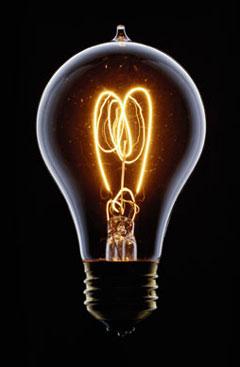 prima lampadina : Perche la lampadina si illumina?