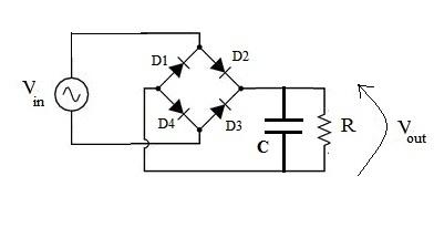 Ponte a diodi e condensatore